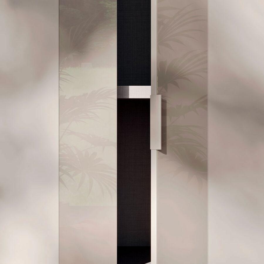 Hinged door wardrobe with Figur door Orme